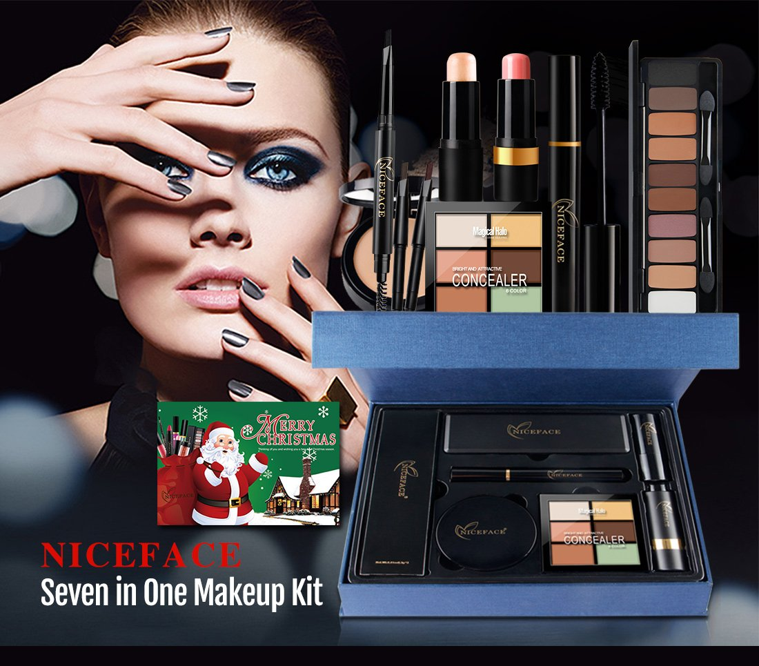 Makeup Kit By Rejawece Eyebrow Pencil Concealer Contour Mascara Chubby Highlighter Stick Eyeshadow
