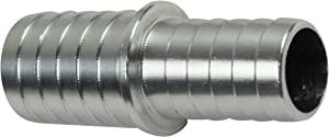 ICT Billet 5/8 to 3/8 Inch Hose Barb Splice Coupler Reducer Repair Fitting Adapter Connector Radiator Coolant Intercooler Heat Exchanger Fluid Designed & Manufactured in USA Bare Aluminum AN627-10-06A