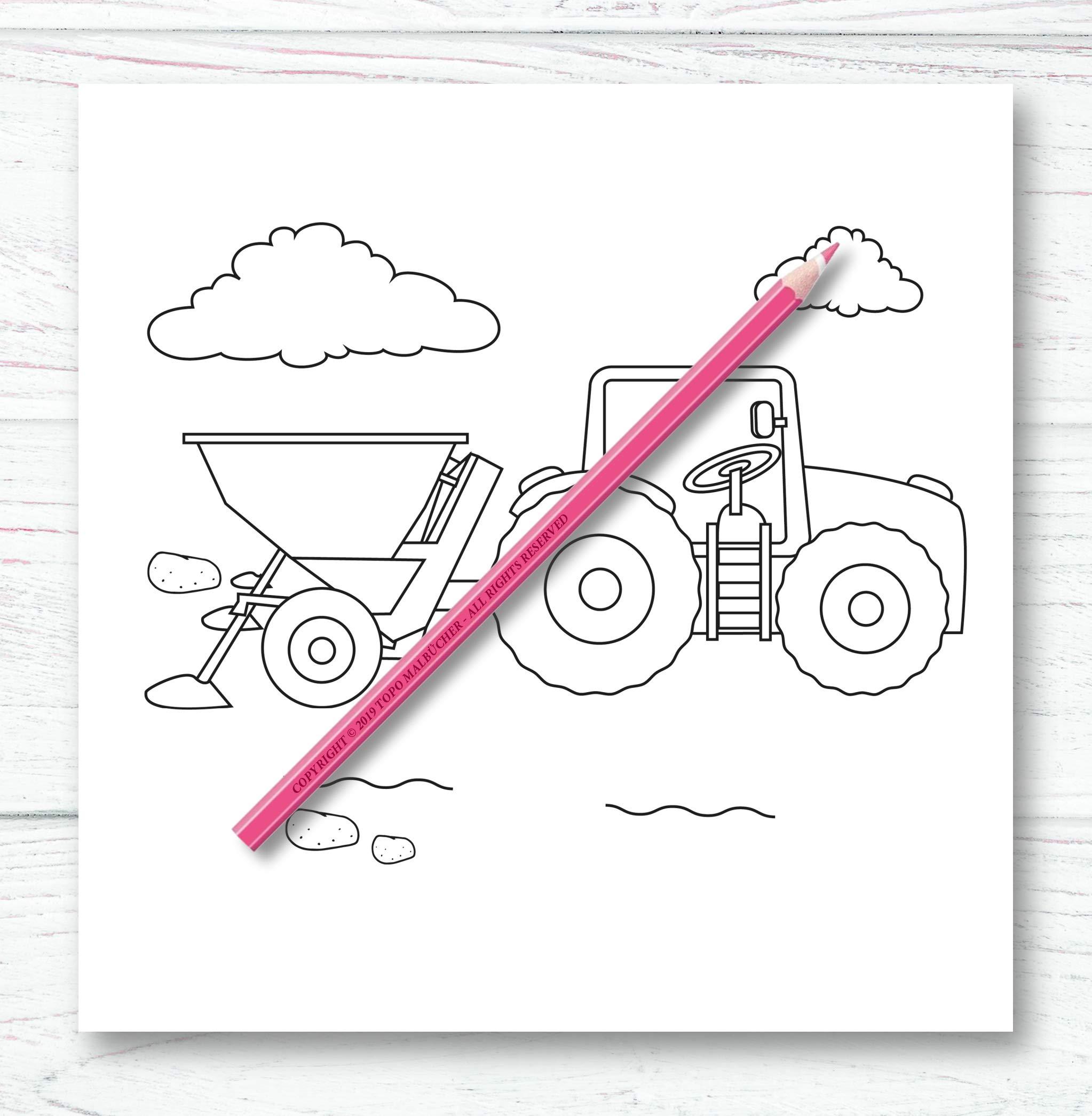 Traktor Malbuch Ab 2 Jahren Bonus Uber 60 Kostenlose