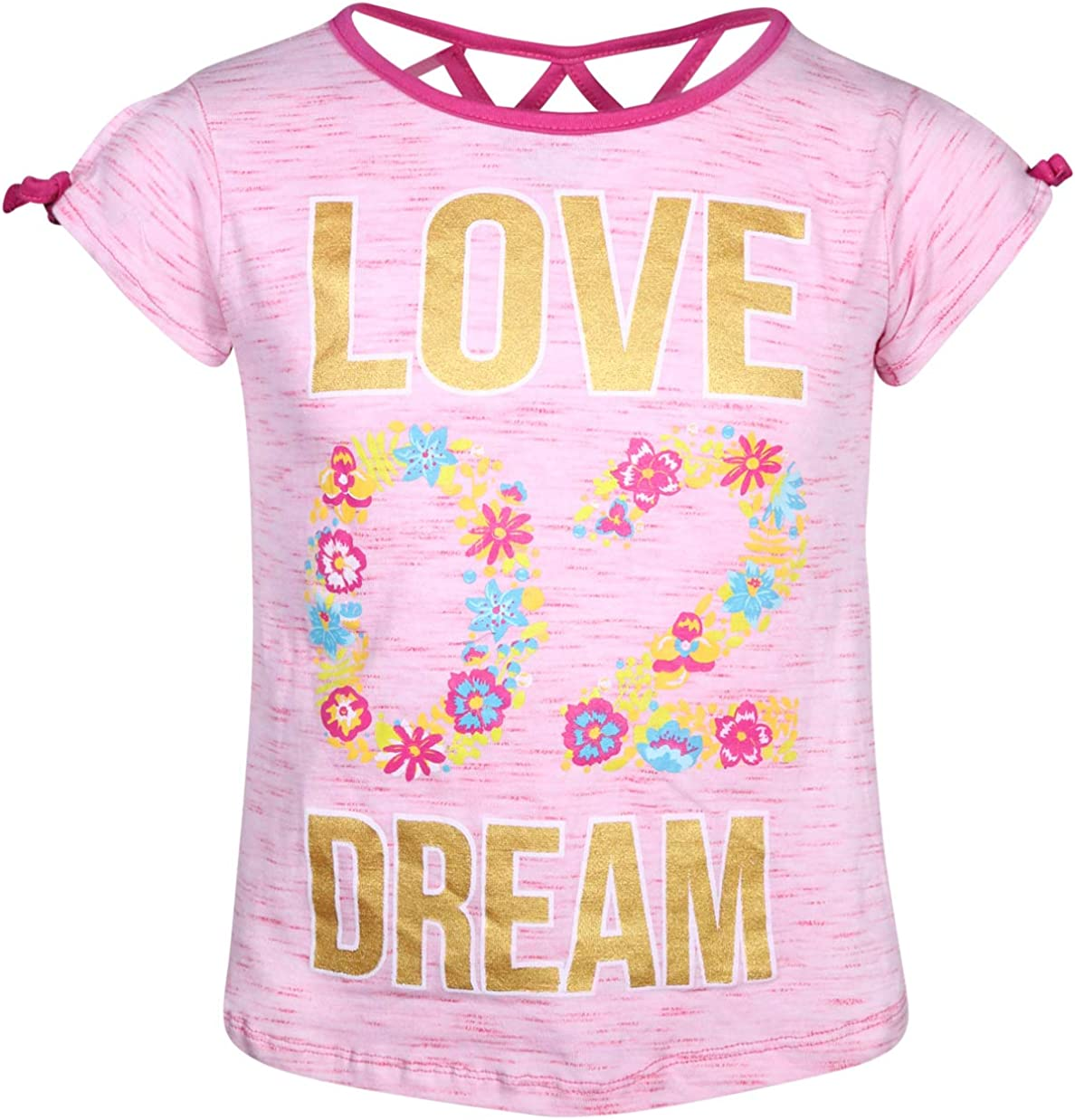 Real Love Girls 4-Piece Summer Short Set with Fun Prints