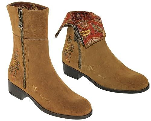 ef86a64c9fa Desigual - Botas de Piel para Mujer marrón marrón  Amazon.es  Zapatos y  complementos