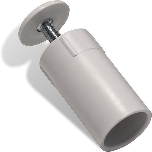 Jarolift Frein de but/ée pour barre de fond de volets roulants 40 mm blanc