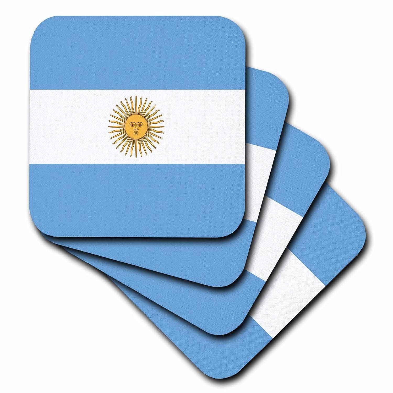 3dRose cst/_28218/_1 Argentina Flag-Soft Coasters Set of 4