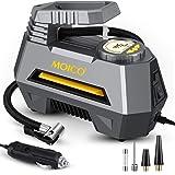 MOICO Portable Air Compressor Tire Inflator, DC 12V Digital Air Pump for Car Tires, Auto Tire Pump with Emergency LED…