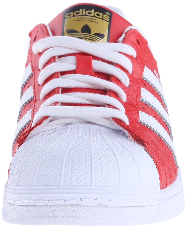 Amazon.com | adidas Originals Men's Superstar Animal Shoe, Red/White/Gold, 8  M US | Walking