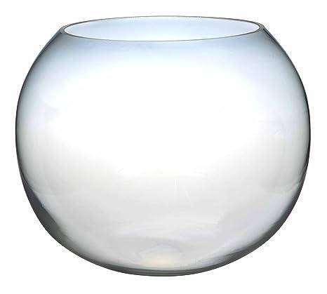 20 cm vidrio claro pecera florero de centros de mesa burrda
