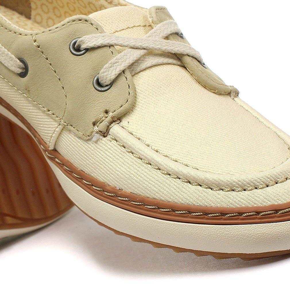 Amazon.com   Caterpillar Luster Womens Mocassin Slip On Shoes Beige/Cream   Flats