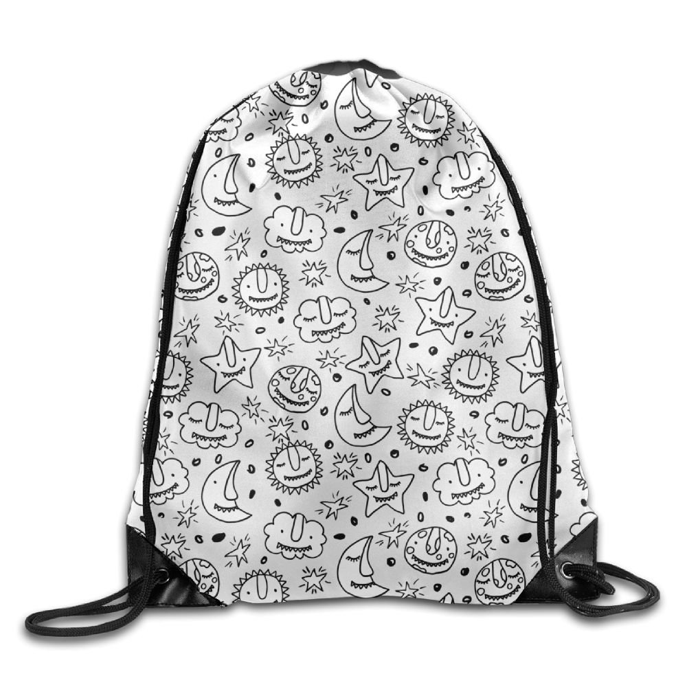 30%OFF Folding Sport Backpack Portable Casual Daypacks Gym Bag, Moon Cloud Star