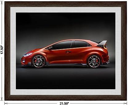 Amazon Honda Civic Type R Concept 2014 Framed Car Art Poster