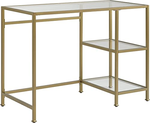Crosley Furniture Aimee Glass Desk