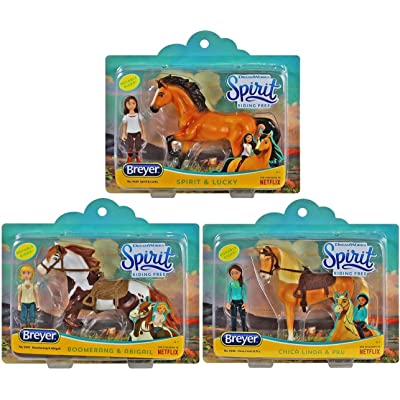 Spirit Breyer Riding Free Playsets Gift Bundle - Set of 3 Includes, Chica Linda & Boomerang!: Toys & Games
