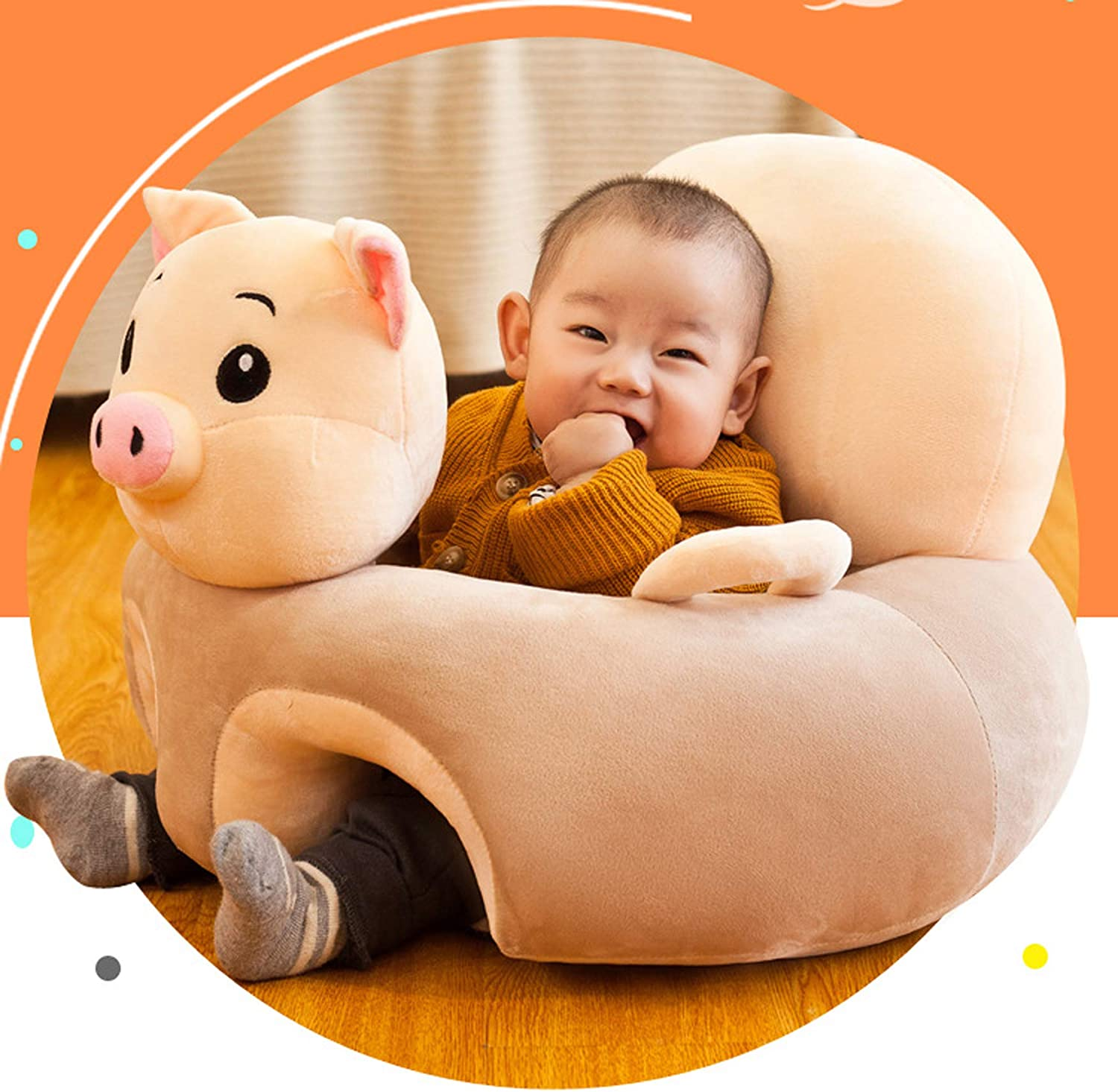 KEZHUYING Childrens Chair B-Piglet Plush Toy Chair Creative Baby Anti Falling Sofa Cartoon Animal Plush Toy