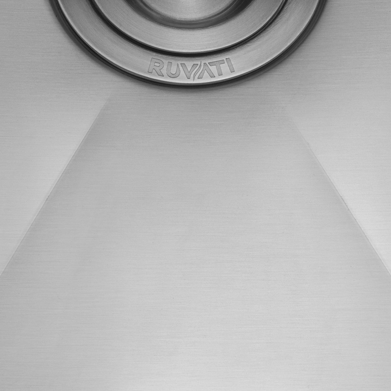 Ruvati 14-inch Undermount Wet Bar Prep Sink Tight Radius 16 Gauge Stainless Steel Single Bowl - RVH7114 by Ruvati (Image #9)
