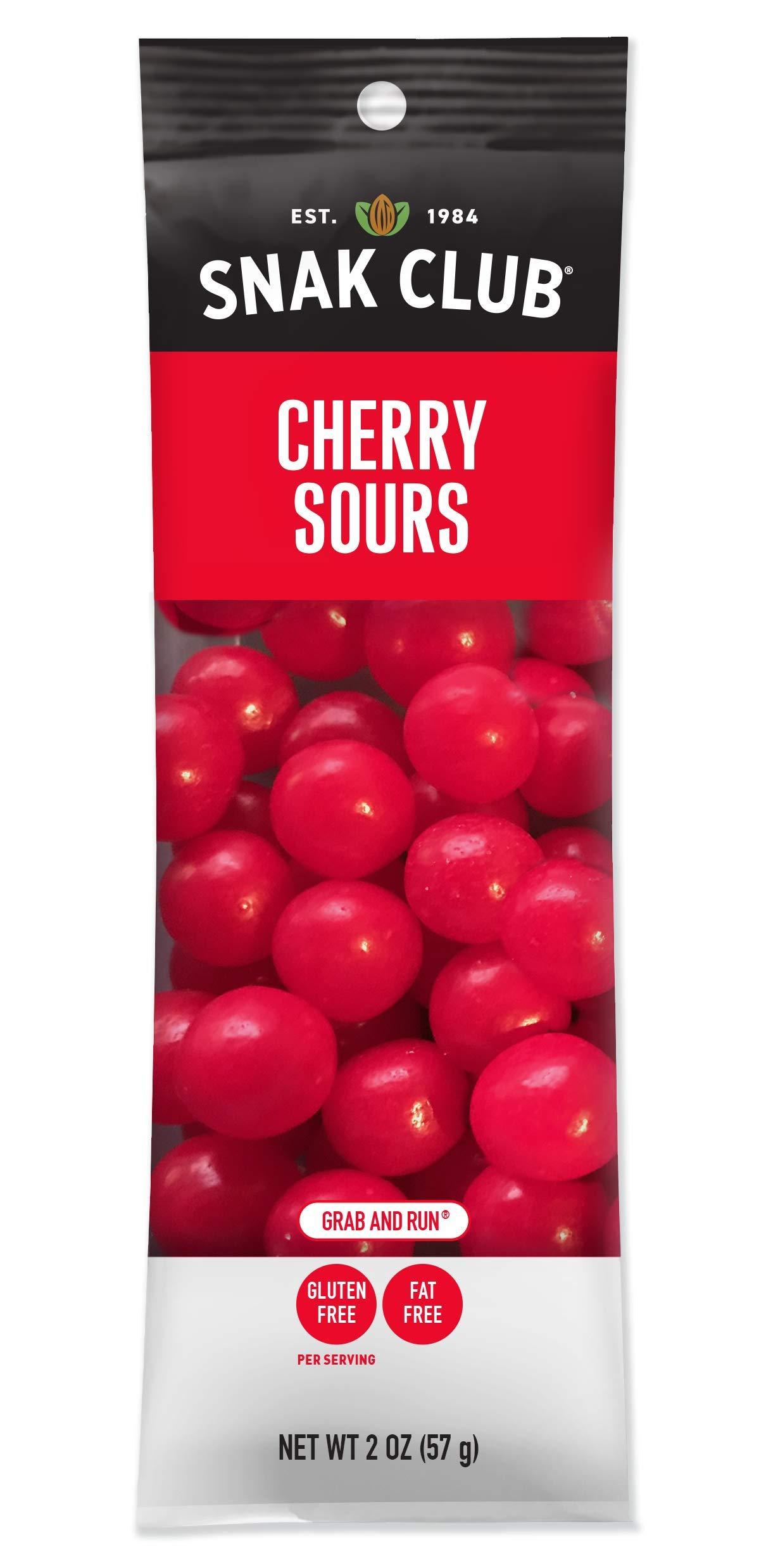 Snak Club Cherry Sours, 2-Ounces, 12-Pack by Snak Club