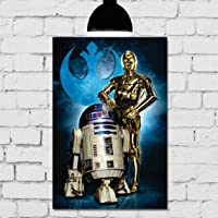 Placa Decorativa Mdf star wars boneco i-5 20cmx30cm