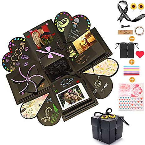 Albums Refills Valentines Day Diy Handmade Photo Album Scrapbooking Gift Box And Surprise Box As Birthday Party Black Creative Explosion Gift Box Mothers Day Wedding Arts Crafts Sewing Fenz Si