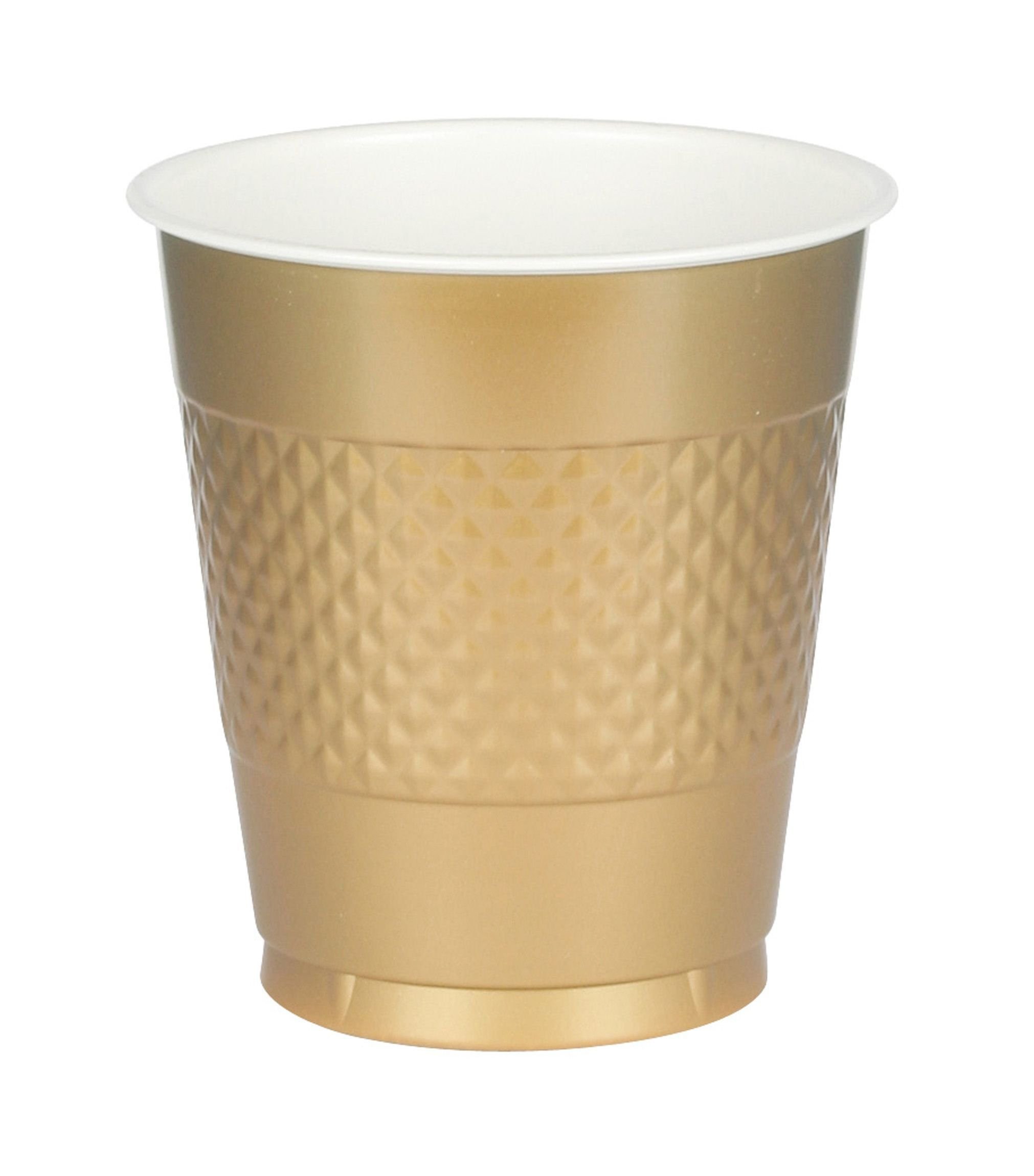 Amscan Big Party Pack Gold Plastic Cups | 16 oz. | Pack of 50 | Party Supply by amscan