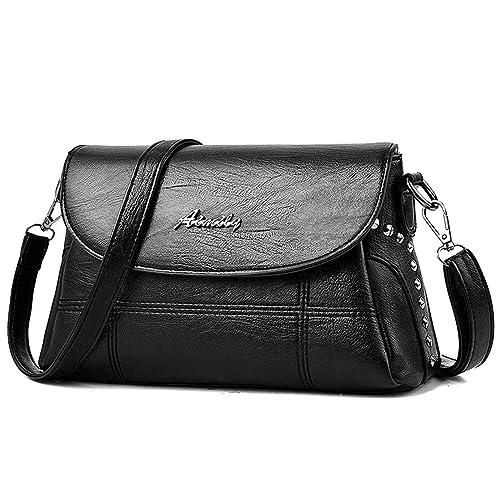 26638a6b27 ToLFE Women Crossbody Bag Soft PU Leather Purses and Handbags Roomy Tote  Shoulder Bags