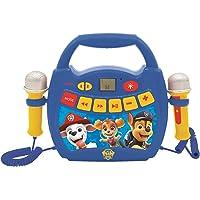 LEXIBOOK- Paw Patrol - Reproductor de música de Karaoke portátil para niños - Micrófonos, Efectos de luz, Bluetooth…