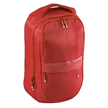 Hama Munich Mochila Nylon Rojo - Mochila para portátiles y netbooks (Nylon, Rojo,