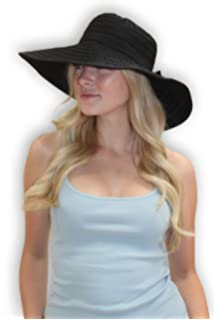 eca833ddfc5 Women s Wide Brim Packable Sun Travel Hat for Large Heads - Ginger White