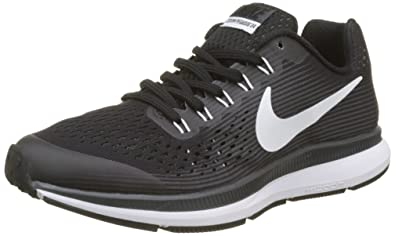 NIKE Boy's Zoom Pegasus 34 (GS) Running Shoe Black/White/Dark Grey