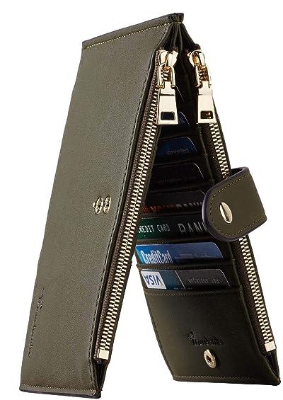 Travelambo Womens Walllet RFID Blocking Bifold Multi Card Case Wallet