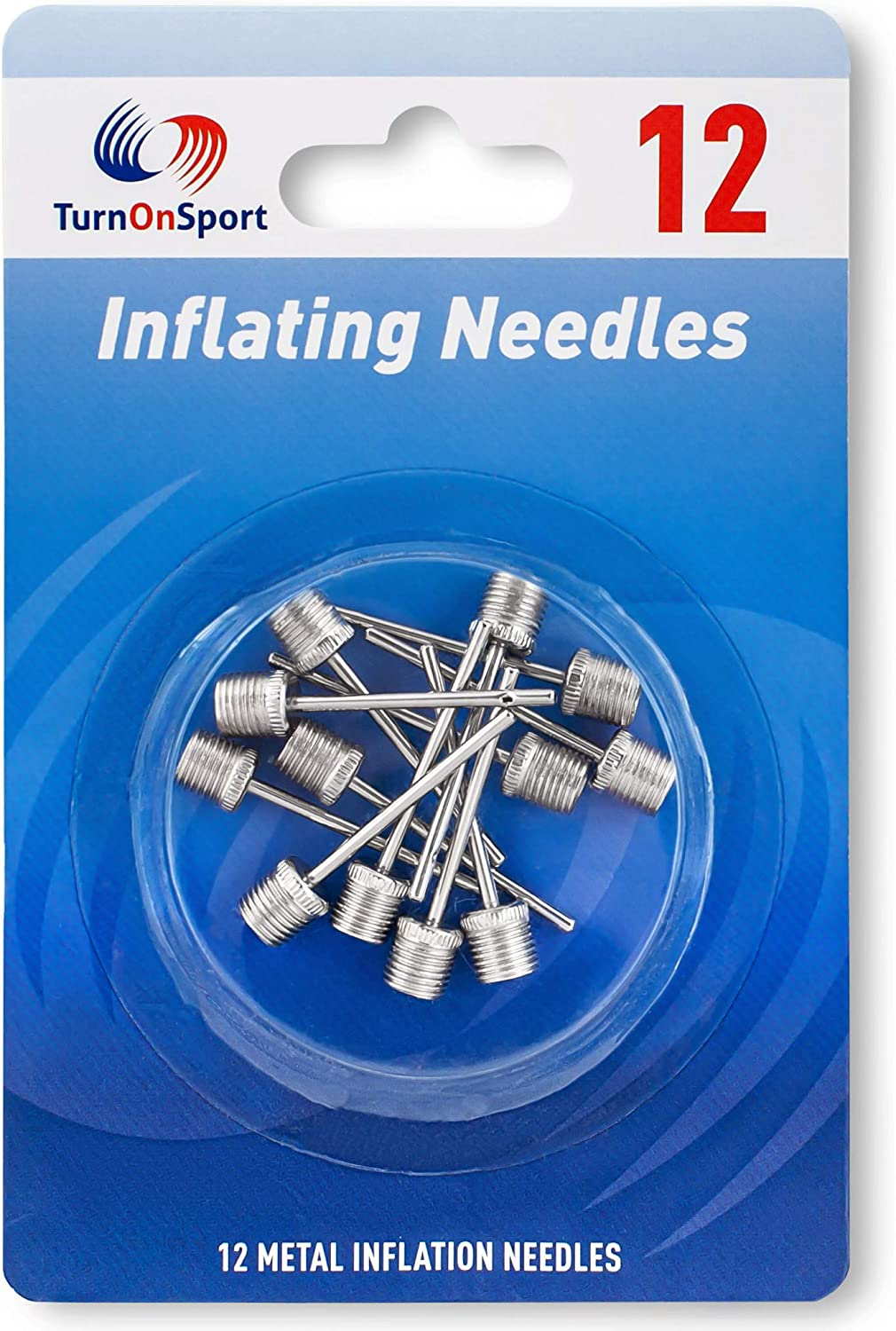 Basketball Pump Needle - Ball Pump Inflation Needles Pack of 12 - Inflate Pump Needle for Balls - Pump Needle Adaptor for Soccer Rugby Football Volleyball Ball - Inflatable Air Pump Needle Replacement