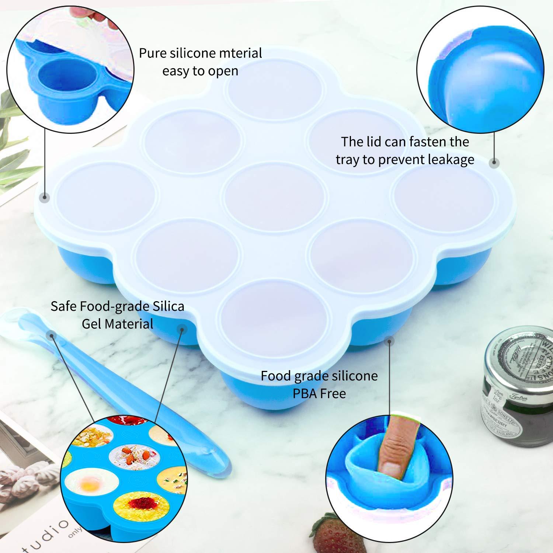 Amazon.com: Bandejas de silicona para congelador de ...