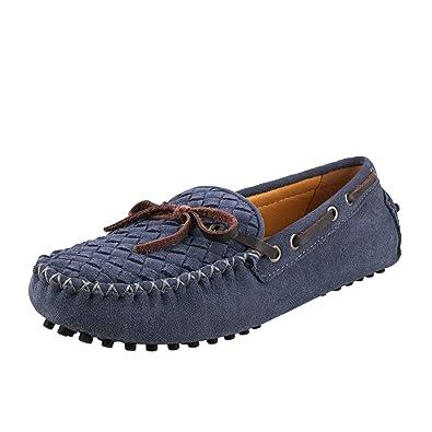 Shenduo Zapatos Casuales - Mocasines de Cuero con Cordones de Moda para Mujer D7058: Amazon.es: Zapatos y complementos