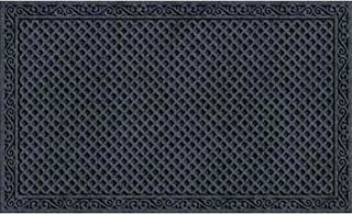 product image for Textures Iron Lattice Entrance Mat, 18-Inch by 30-Inch, Onyx