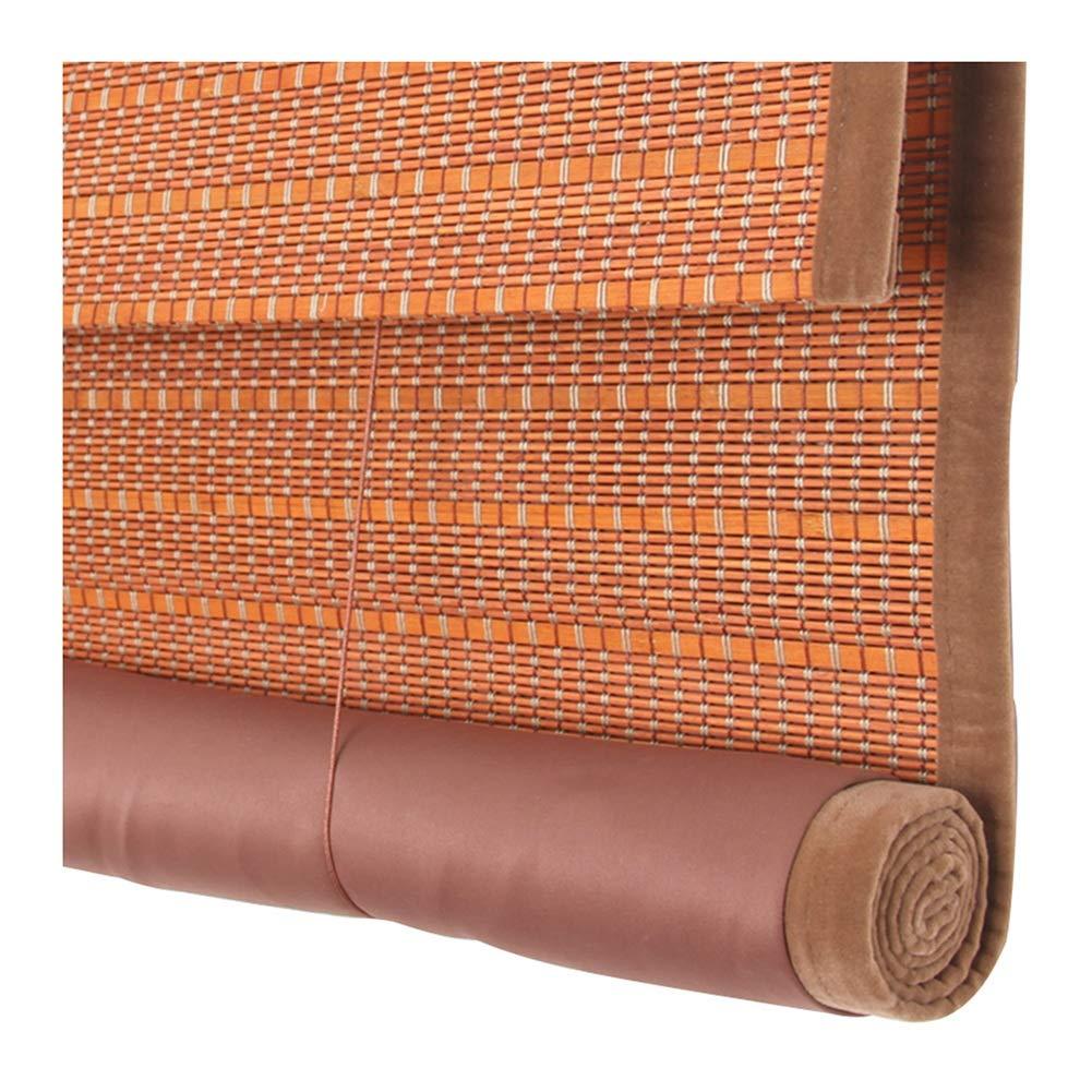ZEMIN 竹 ウッドブラインド ローラー 細かく 織り 丈夫 ナチュラル エッジング カーテン 巻き上げる、 3色、 マルチサイズカスタム (色 : A, サイズ さいず : 160x230cm) 160x230cm A B07Q1HRPLC