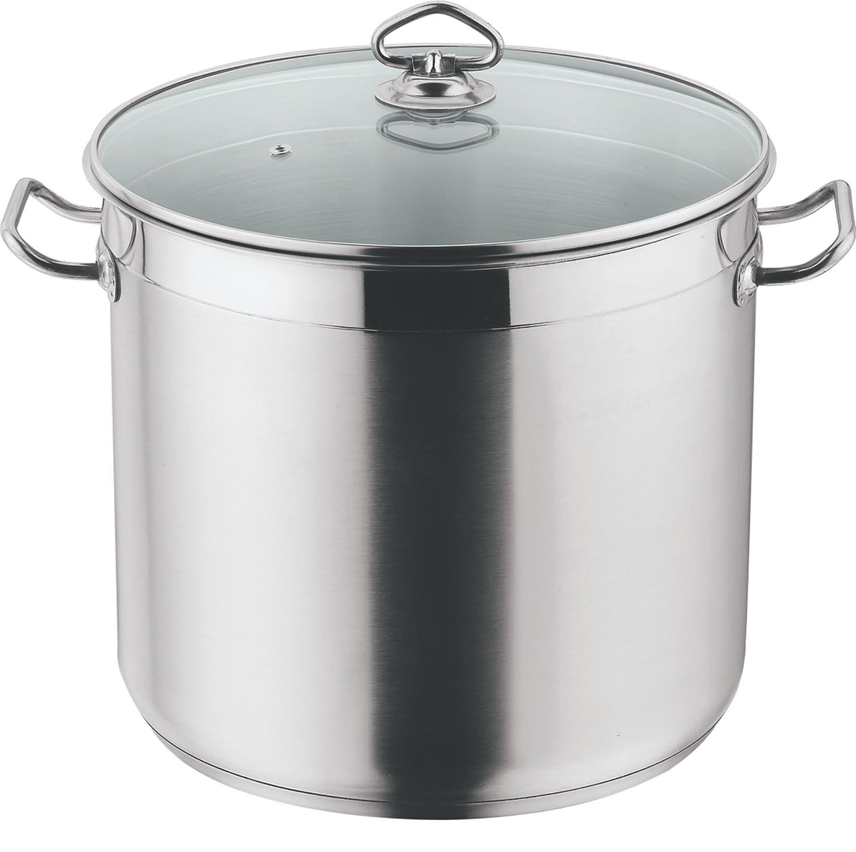 Cookware Saucepan Strain /& Pour Boil Milk Pan Induction SS Casserole Glass Lid