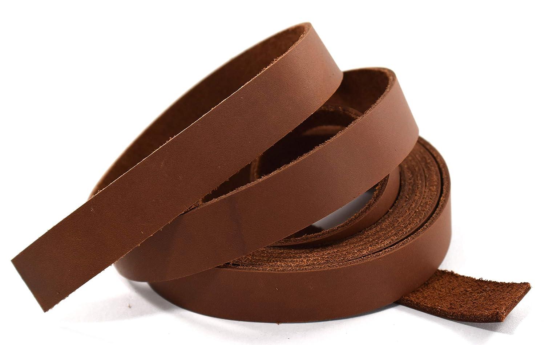1.9cm x 210cm BROWN OIL TANNED Leather Strip 5-180ml LeatherRush B00XK734J4