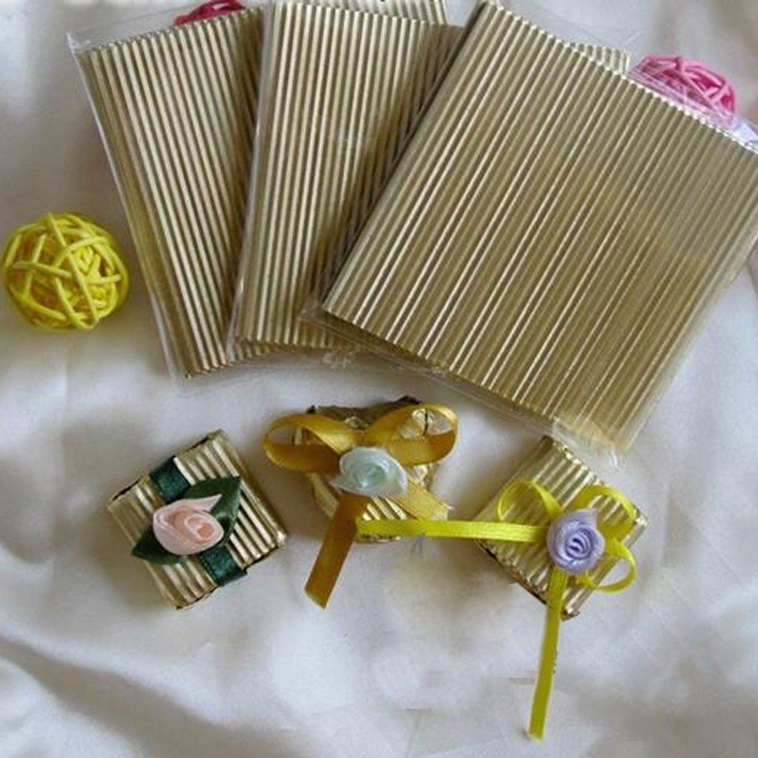 Amazon.com: eDealMax papel de aluminio desechables Wrap para hornear magdalenas muffins de chocolate del papel de estaño de papel de 11 x 11cm 100pcs ...
