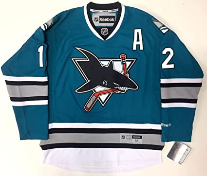 10ca52ff7a7 Patrick Marleau San Jose Sharks 25th Anniversary Reebok Nhl Premier Jersey  New - 5 at Amazon's Sports Collectibles Store