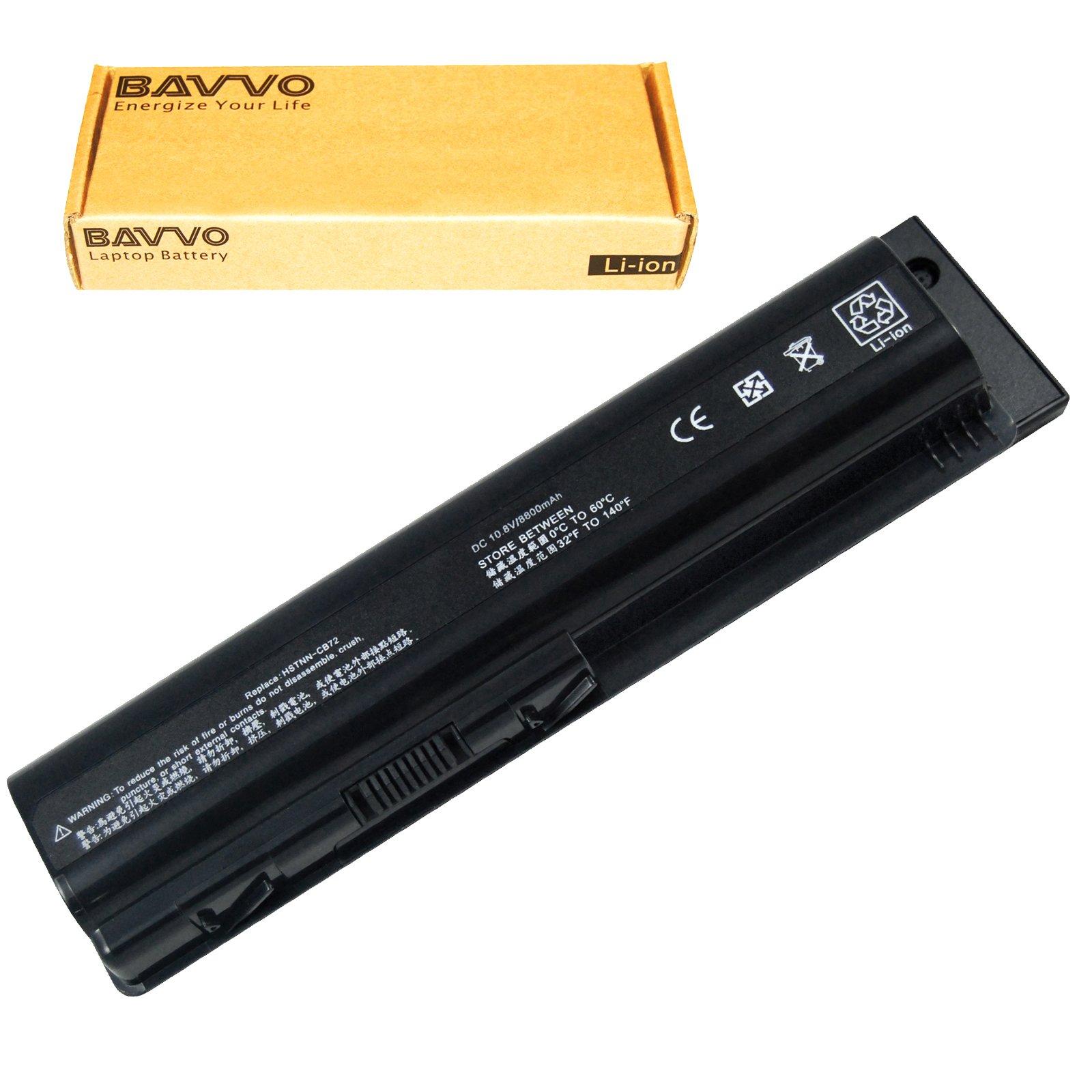 Bavvo 12-Cell Battery Compatible with Pavilion Dv6-1337Tx DV6-1338CA Dv6-1350Us DV6-1351NR