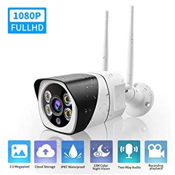 Cámara de Seguridad WiFi 1080P Wireless IP Surveillance Cloud Outdoor IP67 Cámara Resistente a la Intemperie