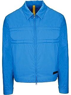 50ec297a2 Moncler Men's 410235054A2P736 Blue Cotton Outerwear Jacket