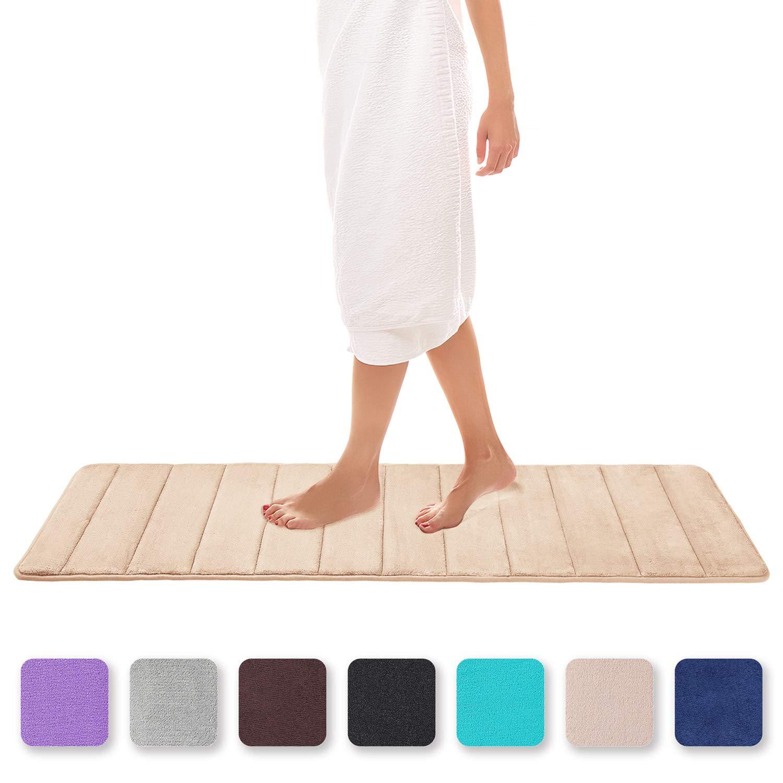 Bath Rug Non-slip Absorbent Soft Memory Foam Bathroom Carpet Home Floor Mat Gift