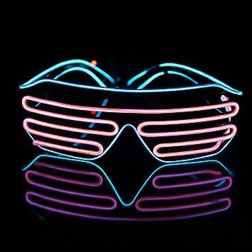 LED Iluminar Trajes Disfraces, JIAMA 2 Colores EL Alambre de Moda ...