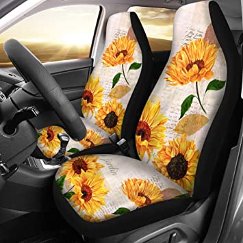 2 GREY FRONT ECO LEATHER SEAT COVERS PROTECTORS