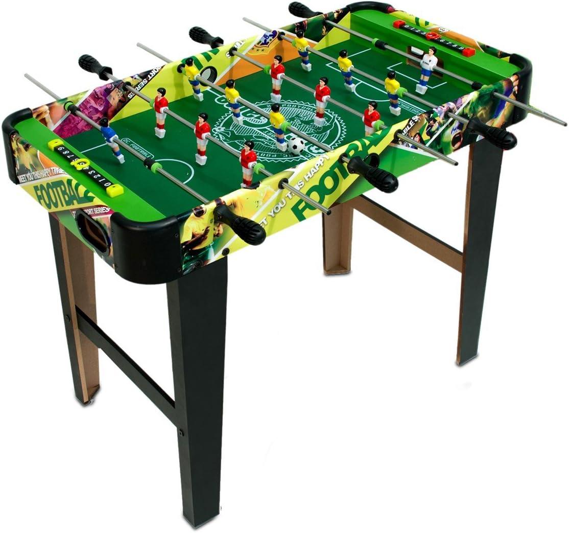 637721 Futbolín de mesa CHAMPIONS FOOTBALL de madera con patas 80 ...