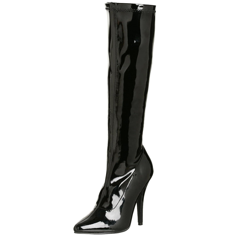 Pleaser Women's Seduce-2000 Knee-High Boot B00125TLAM 11 B(M) US|Black Patent