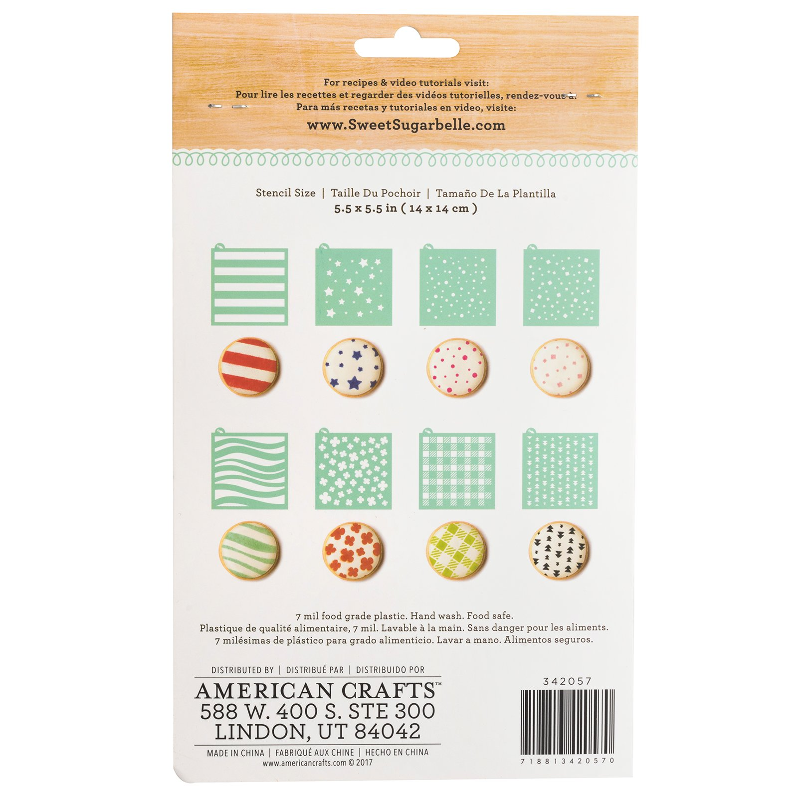 Sweet Sugarbelle Cookie Stencils and Stencil Snap Holder Frame - Patterns, Expressions, and Numbers Design Templates for Decorating and Baking (14 Sheets) by Sweet Sugarbelle (Image #6)