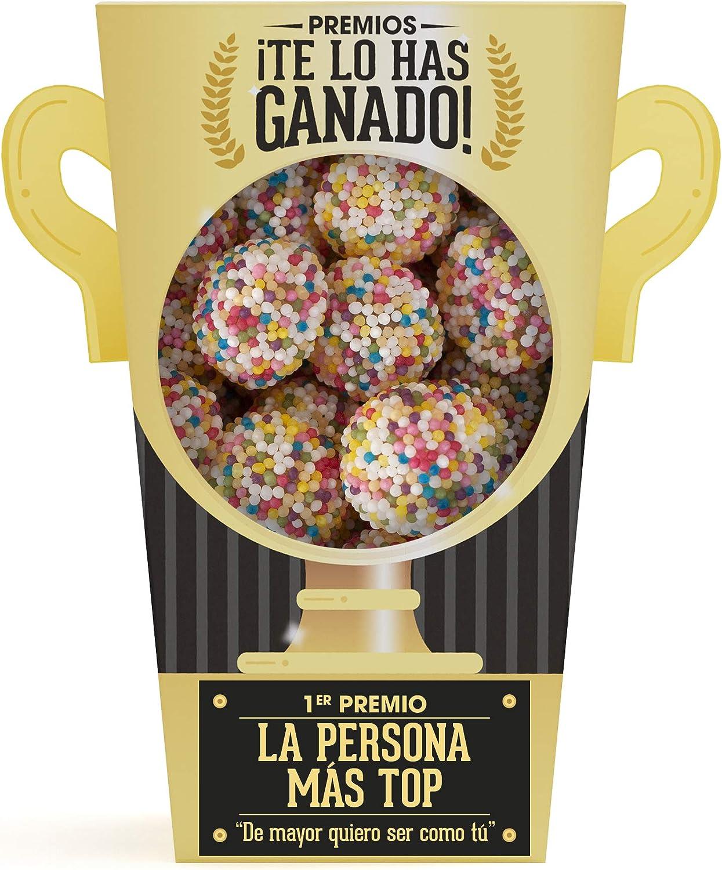 Designer Souvenirs - Trofeo de Gominolas y Chuches | Regalos Muy Originales Para Madres, Padres y Niños | Ideas Divertidas para Regalar en Cumpleaños, Fiestas, Comuniones y Aniversarios