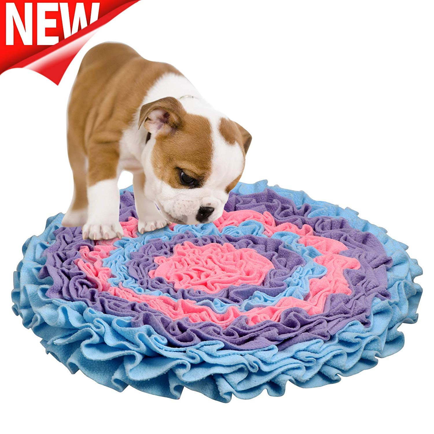 CPPK Snuffle Mat for Dogs, Dog Feeding Mat, Dog Puzzle Enrichment Toys, Nosework Slow Feeding Training, Encourages Natural Foraging Skills, Perfect for Any Breed Stress Relief,Bluepurple