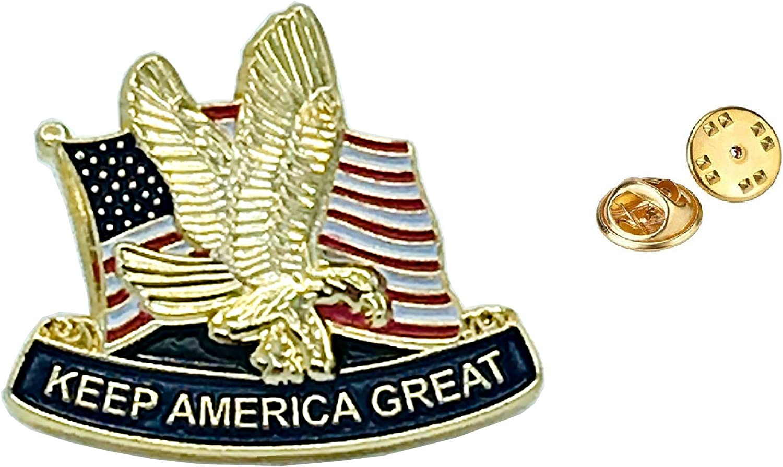 Trump Keep America Great Presidential 2020 Patriotic Lapel Pin