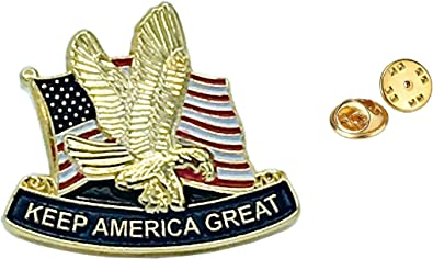 Lot of 100 Trump Keep America Great 2020 MADE IN USA President Lapel Pin
