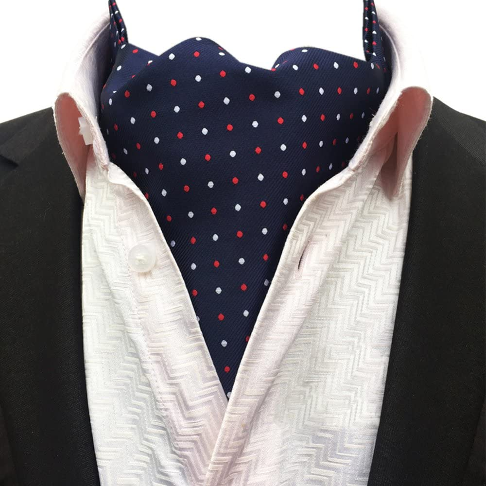 YCHENG Hombre Pañuelo Bandana Jacquard Ascot Paisley Corbatas Lujo ...